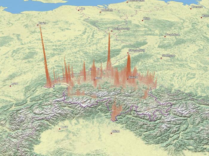 Population density: Point cloud
